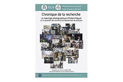 """Affiche Exposition photographique """"Chronique de la recherche"""""""