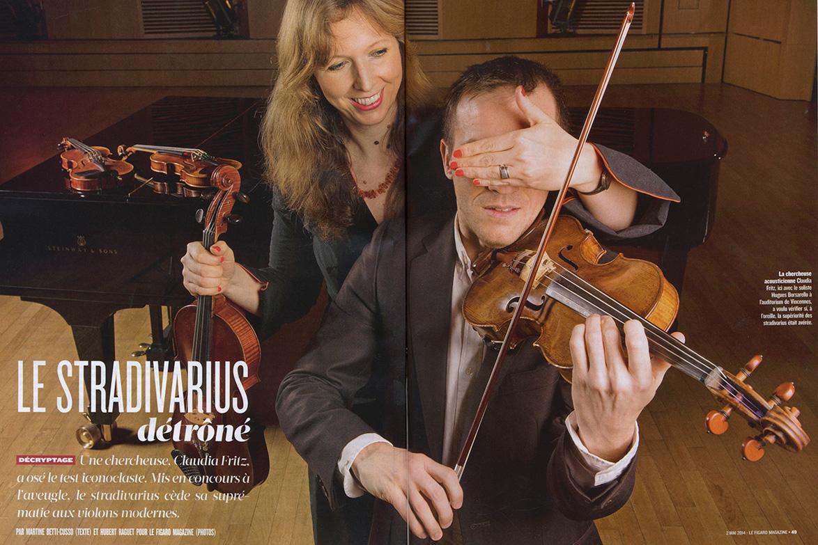 Parurion Figaro Magazine Violons ancien svs violons moderne