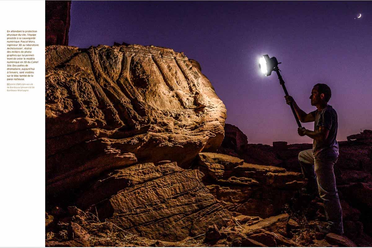 Parution dans Carnets de science du reportage photograhique sur le Camel Site en Arabie Saoudite