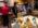 """Reportage photographique """"La tête dans les étoiles"""". Observatoire du Pic du Midi.  Préparation du diner. Olivier Stenuit et Manuel Antuna deux astronomes amateurs familiers du S2P sont venus grossir les rangs de l'équipe."""
