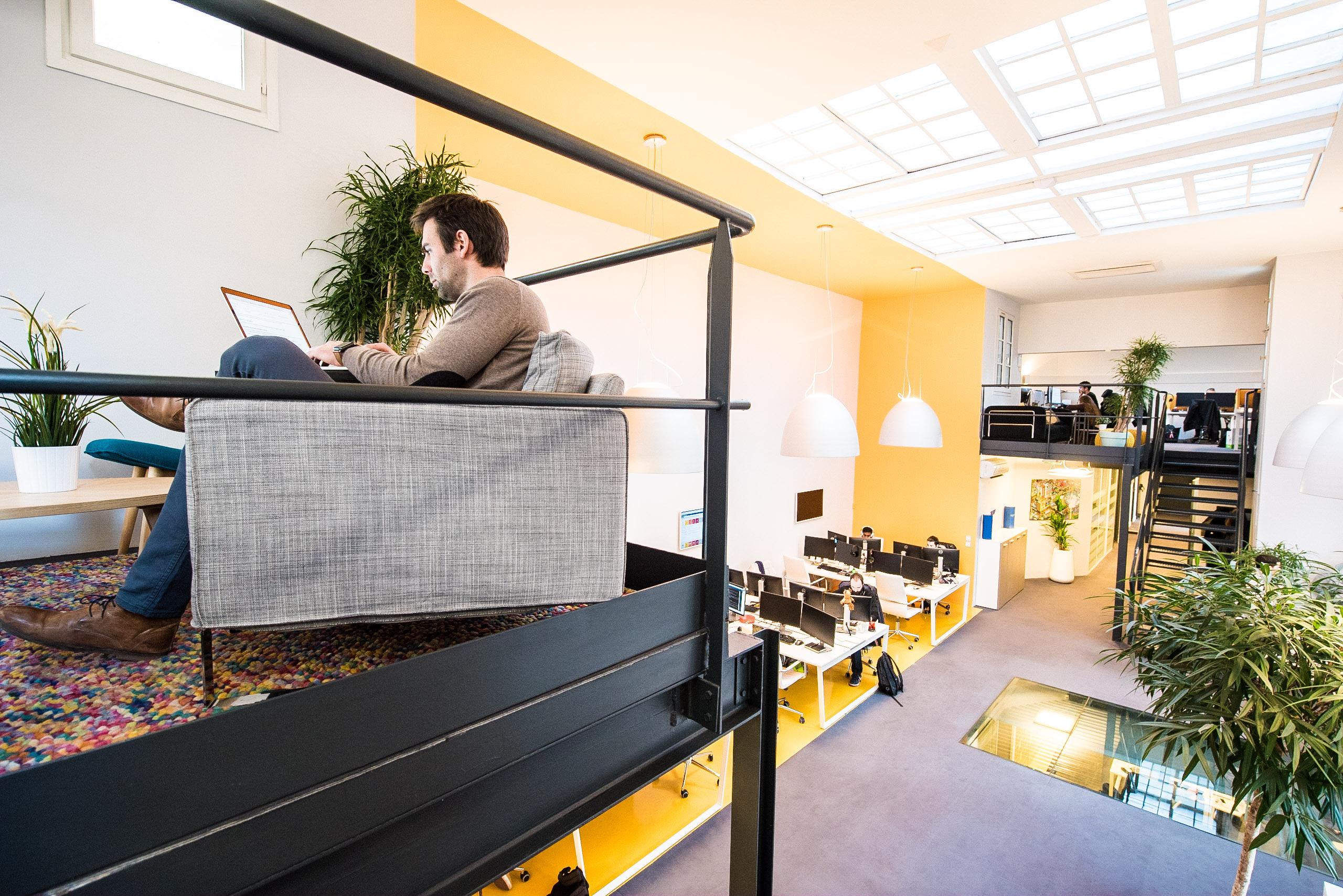 Reportage photographique sur l'architecture et des ambiance des espaces de travail chez Oxalide