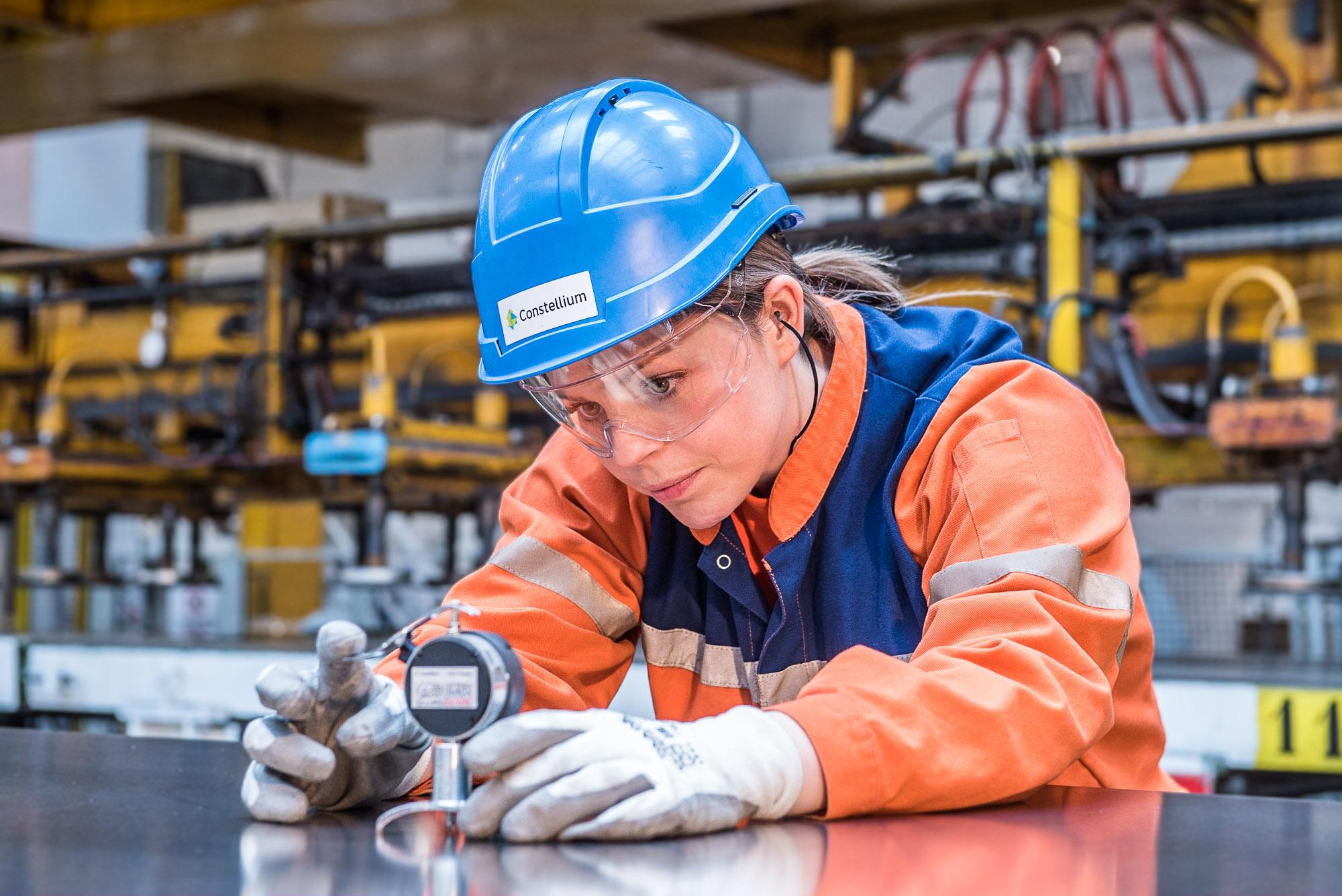 Photographie corporate sur les activités  de production du  groupe industriel Constellium