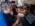 """Reportage photographique """"La tête dans les étoiles"""". Observatoire du Pic du Midi. François Colas peaufine le traitement des images réalisées la veille par David Darson pour faire ressortir les détails d'intérêts. cette image a été produite avec l'aide d'un logiciel gràce auquelle il a sélectionné les images les moins déformées par la turbulence atmosphérique.  Le logiciel les a ensuite redressé, puis superposé afin de produire une image avec le maximum de détails."""