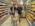 """Reportage photographique """"La tête dans les étoiles"""". Observatoire du Pic du Midi.  Le ravitaillement n'étant pas possible directement au sommet, lors des missions au Pic du Midi, l'équipe doit faire des courses à une trentaine de kilomètres de l'observatoire."""