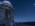 """Reportage photographique """"la tête dans les étoiles"""" David Darson regarde l'évolution du ciel en écartant le rideau occulteur de la salle de contrôle du T1M. Jupiter et la Lune sont au rendez vous."""