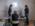 """Reportage photographique """"La tête dans les étoiles"""". Dijon. Université de Bourgogne. IEM. David Darson devant une séquence d'images enregistrées lors de la mission au Pic du Midi discute avec Julien Dubois des algorithmes de traitement de l'image à haute dynamique (HDR)"""