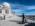 """Reportage photographique """"La tête dans les étoiles"""". Observatoire du Pic du Midi. Arrivée sur le site de l'observatoire."""