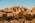 Arabie Saoudite. Madâin Sâlih. Mission archéologique franco-saoudienne sur le site de l'antique cité nabatéenne de Hégra. Jabal Ithlib, le massif rocheux (grès) qui abrite le sanctuaire religieux Nabatéens