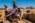 Arabie Saoudite. Madâin Sâlih. Mission archéologique franco-saoudienne sur le site de l'antique cité nabatéenne de Hégra. Restauration de la porte sud-est du rempart avec pose  de brique en terre