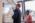LPS. laboratoire de physique Statistique. Equipe Micromegas  de Lyderic Bocquet. Alessandro Siria chercheur et la chercheuse Rodha Boya de l'univeristé de Manchester échangent sur la vitre d'une hotte dans le laboratoire.