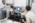 LPS. laboratoire physique Statistique. Equipe Micromegas  de Lyderic Bocquet. Antoine Nigues Post-doctorant, Laetitia Jubin doctorante et Steve H. Donaldson un étudiant chercheur américain qui a obtenu une bourse pour étudier à l'ENS. Il s'intéresse à l'utlisations de gros diapasons comme instruments  par les équipes du laboratoire Micromégas.   Les trois chercheurs  devant les courbes issues d'une expérience où des liquides sont confinés par une sphère.