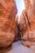 L'antique cité nabatéenne de Pétra.  Le Siq et ses canalisations d'époque nabatéenne qui servaient à capter et à transporter l'eau de pluie vers des citernes creusées dans la roche.