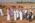 Arabie saoudite, région de Al Jawf, Sakaka, Camel Site. Visite du Camel Site par l'Emir de la région d'Al Jawf à l'occasion de laquelle Maria Gagnin et Guillaume Charloux les deux resposnsables de la mission lui expliquent le caractère exceptionnel du site du point de vue archéologique  et patrimonial et de l'urgence à le protéger.