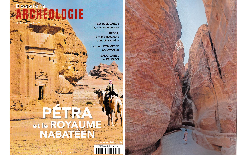 Parution dans Dossiers Archéologie de photographies réalisées à Hegra et à Petra
