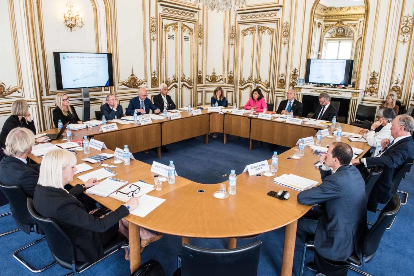 6 June 2017 - OECD Forum 2017: OECD Forum 2017: Forum CEO/ Business Round table.  OECD, Paris, France.Photo: OECD/Hubert  Raguet