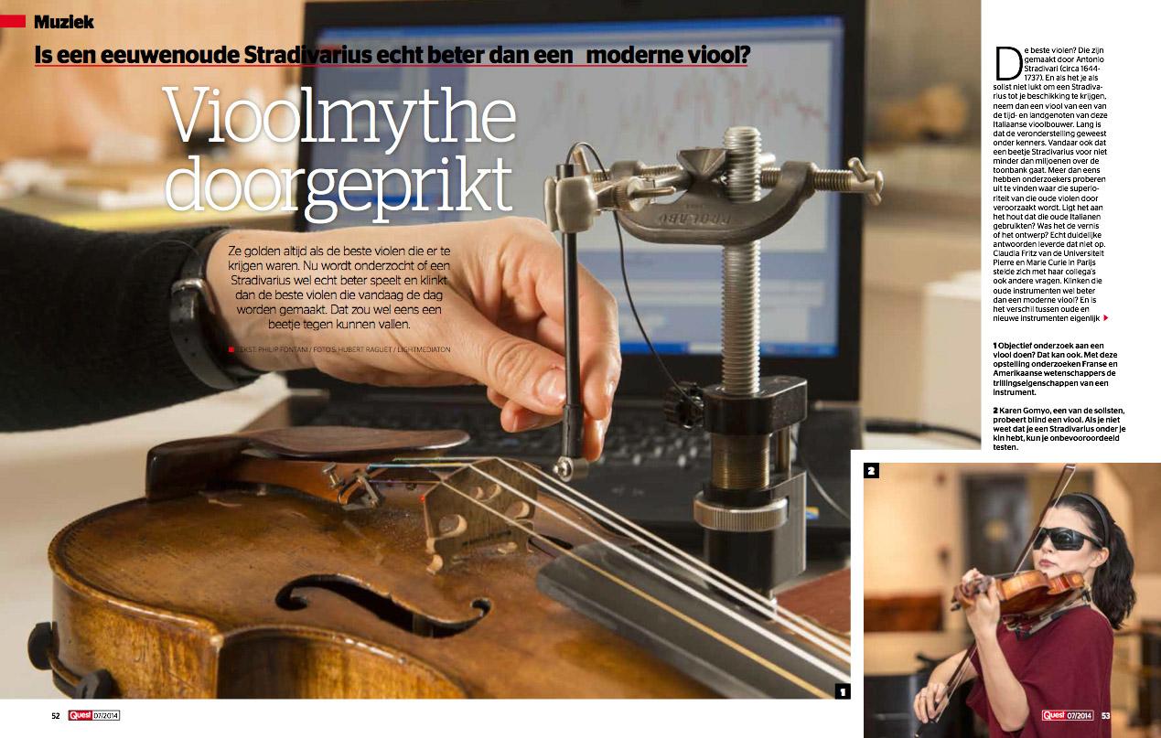"""Parution dans le magazine hollandais Quest-""""Stradivarius, la fin d'une légende"""""""