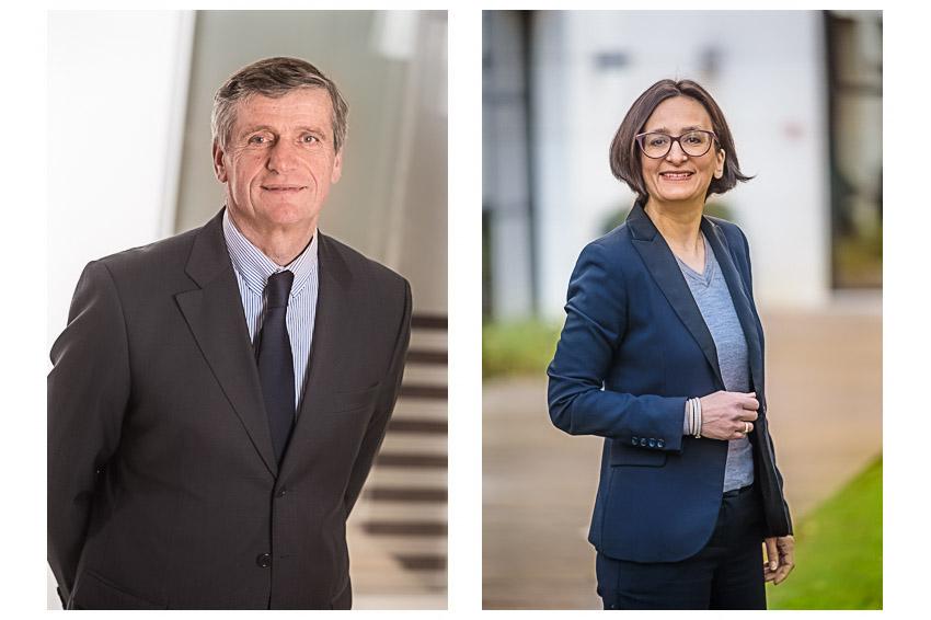 Portraits des membres du comité de direction de la compagnie d'Assurance Albingia