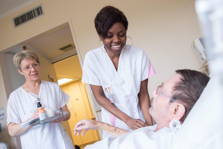 Reportage photographique dans un  des services d'hospitalisation du CCML