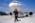 Aéroport Charles-de-Gaulle. Technicien chargé de l'environnement de l'avion sur le parking avant son décollage.  Charles-de-Gaulle Airport, France. Technician surveying the plane's environment before take-off.