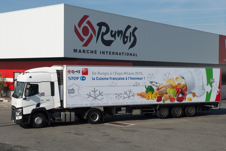 reportage photographique pour l'entreprise de transport de fret routier Stef à Rungis