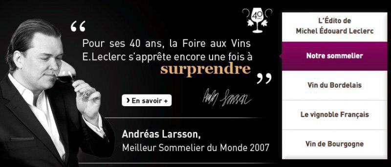 Sélection des vins pour la foire aux vins du groupe E Leclerc