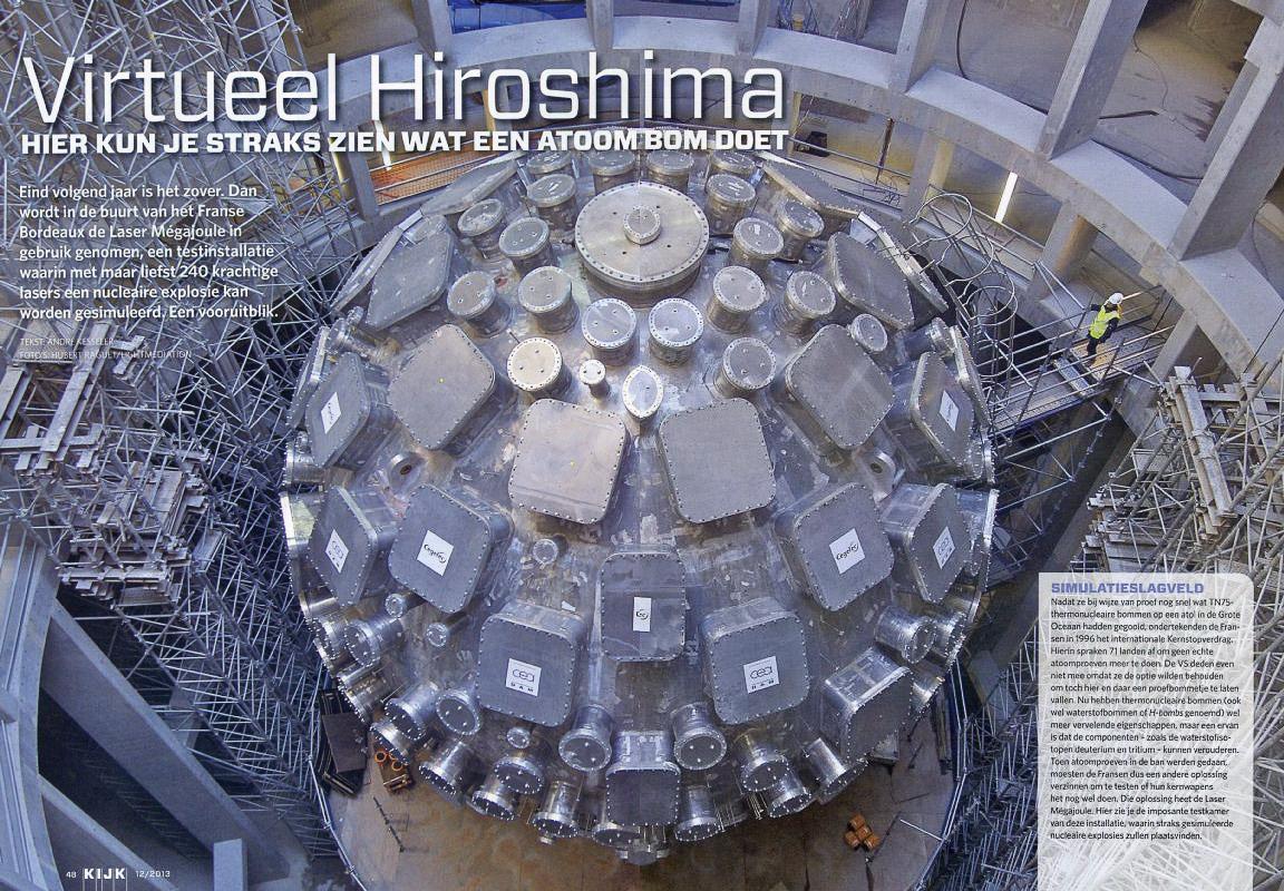 """""""Un laboratoire pour la bombe H"""" dans le magazine hollandais Kijk"""