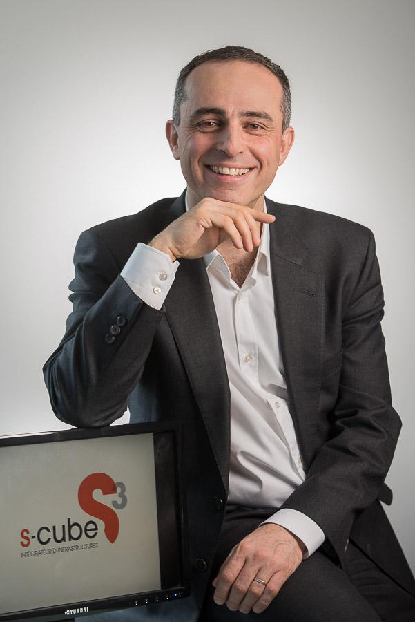 Réalisation du portrait d'Antoine Chacra Directeur Général de S-Cube pour le presse spécialisée et la communication corporate de l'entreprise