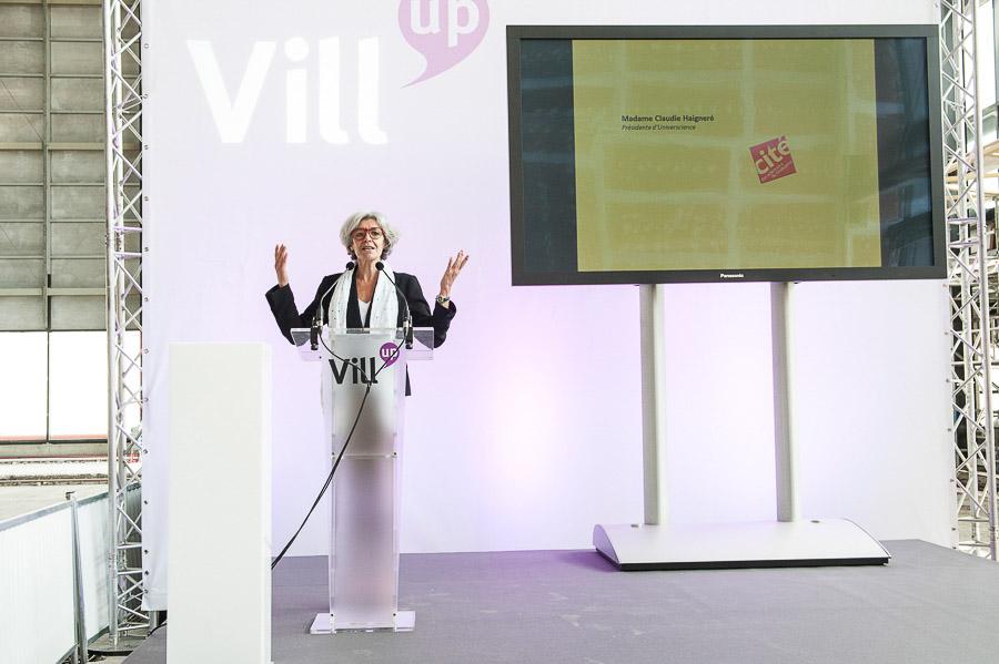Reportage photographique évènementiel sur le lancement du chantier de Vill'up à la Villette. Commande de Grenade-Sparks pour son client Apsys