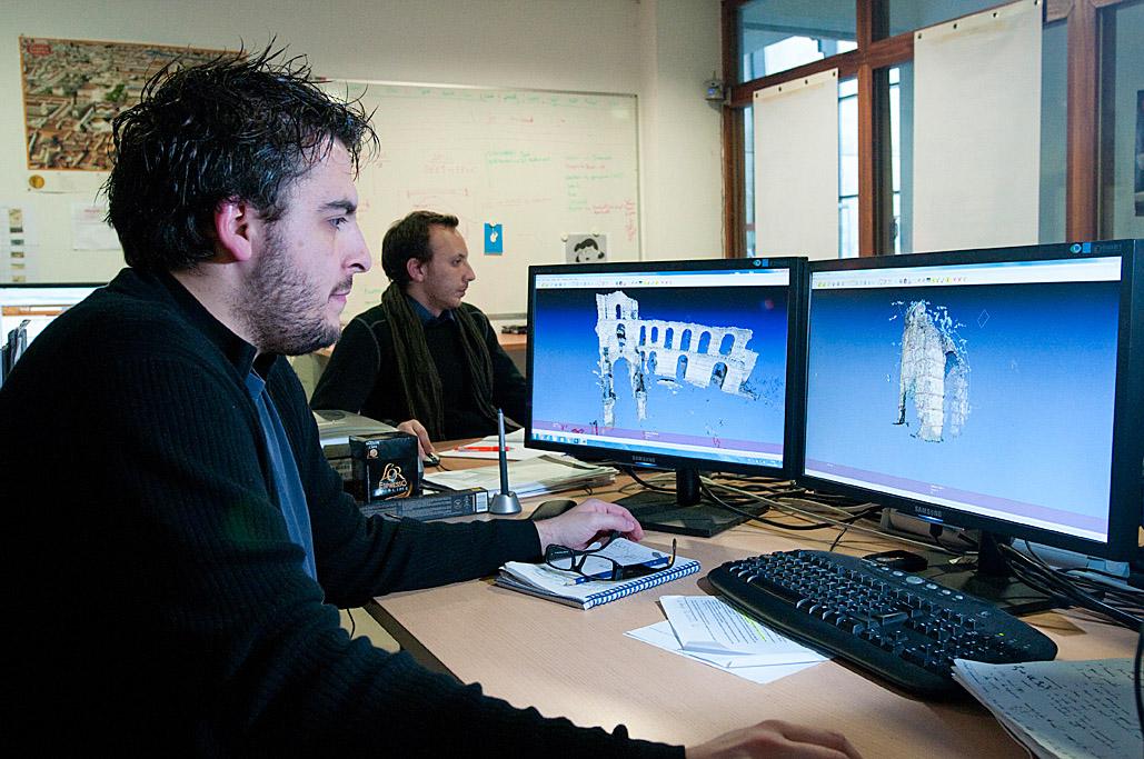 Reportage sur l'archéologie virtuelle pour Micro Hebdo