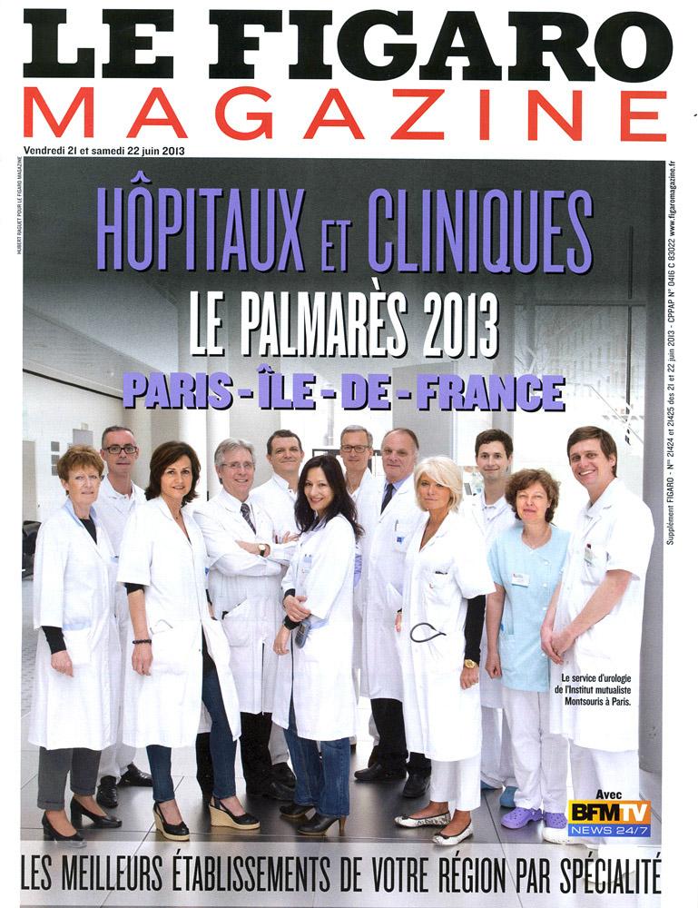 Parutions dans le Figaro Magazine des photographies réalisées pour le palmarès des hopitaux 2013