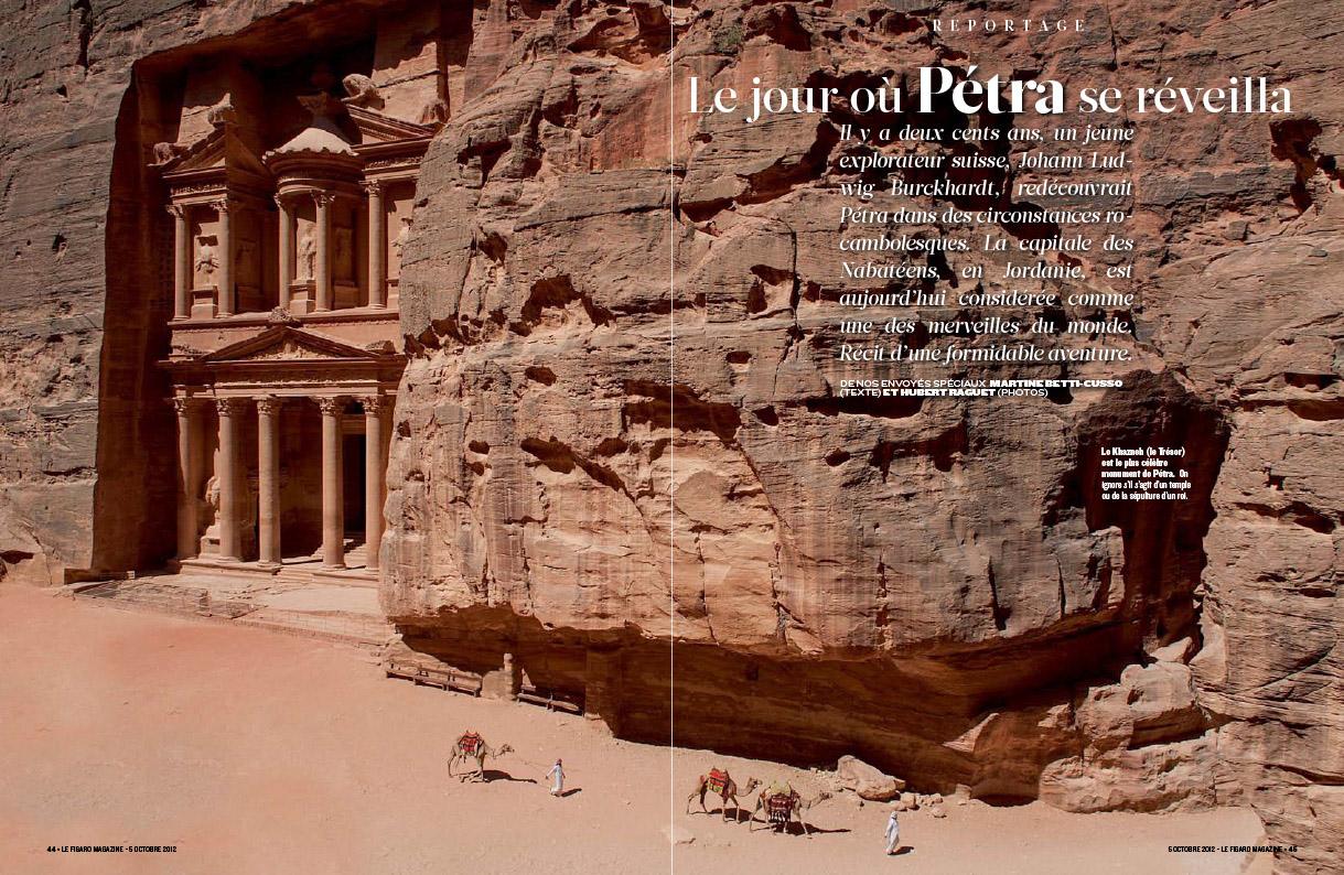 Parution dans le Figaro Magazine d'un reportage photographique sur Pétra