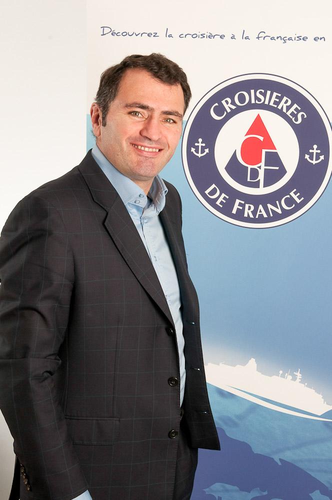Portrait corporate d'Antoine Lacarrière directeur général de Croisière de France