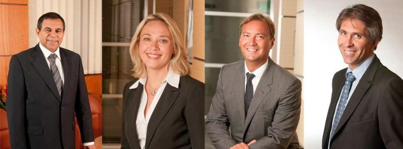 Portraits corporate du Président directeur générale, de la directrice du marketing et de la communication, ainsi que de nouveaux partenaires de Linedata